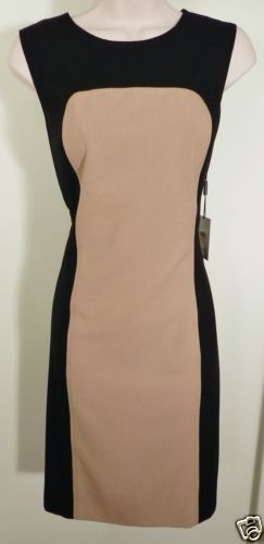 Calvin Klein Camel Black Dress Sz 8 | eBay