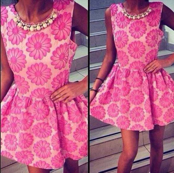 dress pink dress spring dress