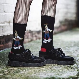 shoes creepers socks