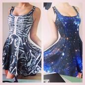 dress,galaxy print
