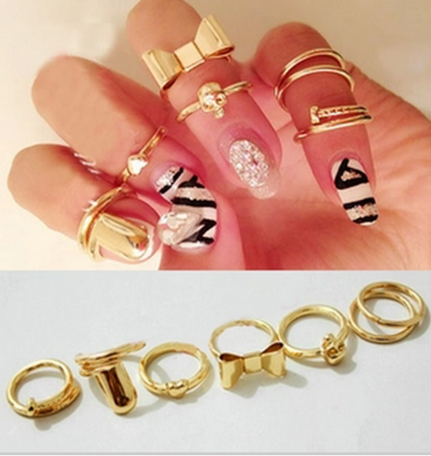 7pc set cute nail jewel*free shipping* · miss lulu · online store powered by storenvy
