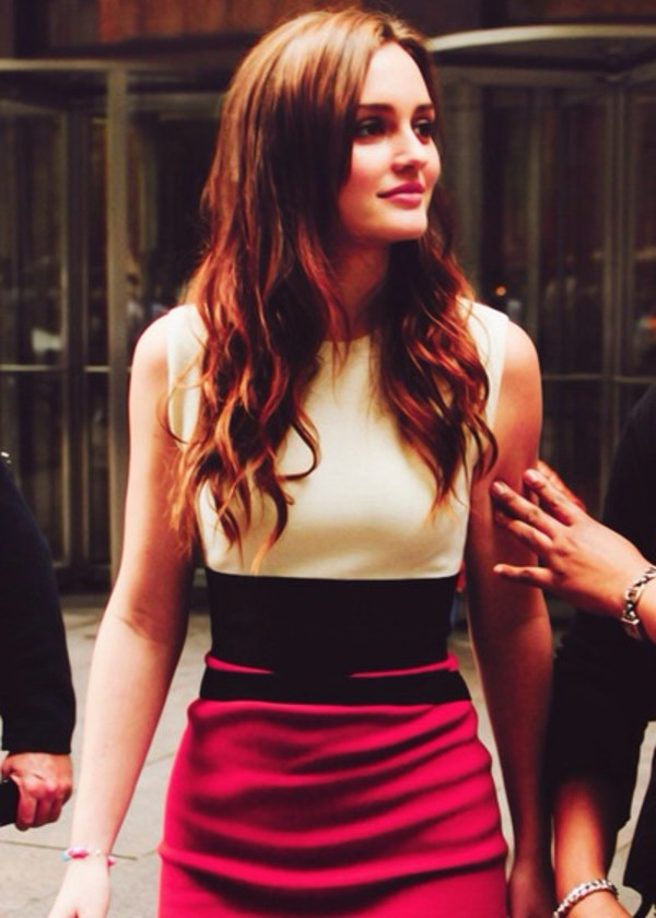 red dress bodycon dress leighton meester