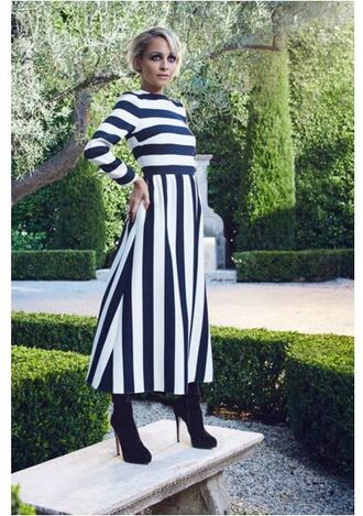 dress stripes striped dress nicole richie editorial