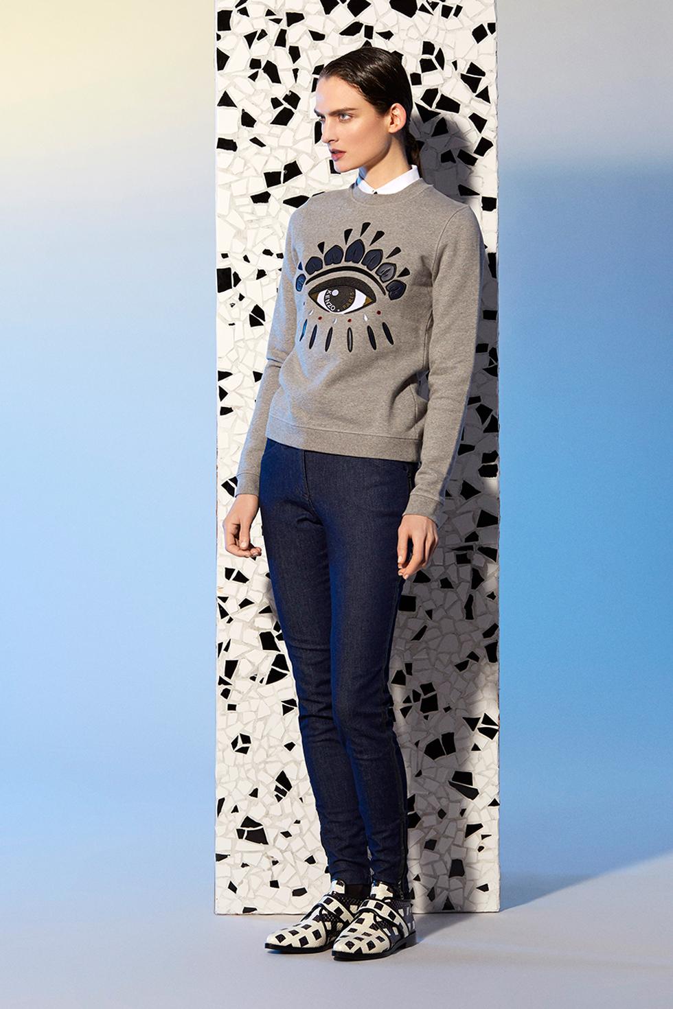 8dab2b8ba Kenzo Eye Sweatshirt - Kenzo Sweatshirts & Sweaters Women - Kenzo E-shop