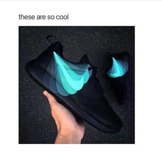 shoes nike blue black nike black roshe runs nike roshe run teal
