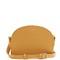 Half moon saffiano-leather cross-body bag