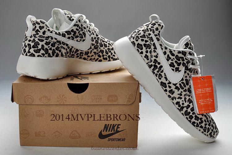 Buy Nike Roshe Run FB Womens Stylish Grey Leopard Sole outlet on sale