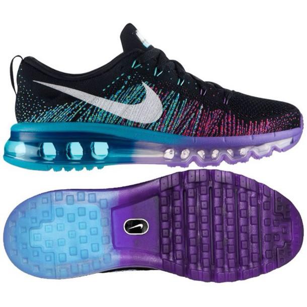 ab7cc16fd9b8 nike running shoes nike shoes air max flyknit blue purple shoes running  shoes nike air black