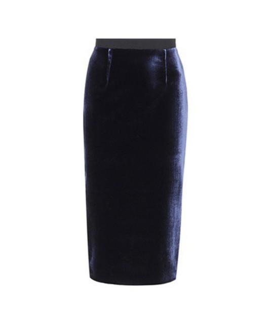Roland Mouret skirt velvet blue