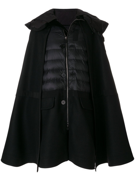 moncler coat women black wool