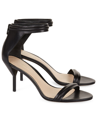 sandals leather black black leather shoes