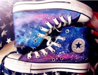 On sale galaxy converse, converse high top custom,galaxy shoes men shoes, high tops, galaxy