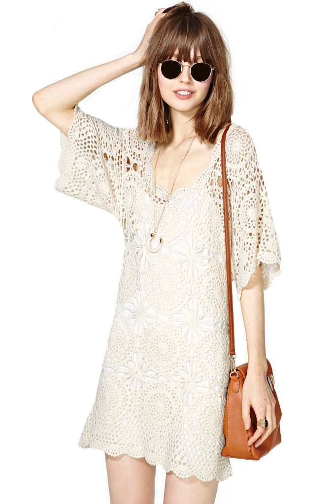 Lucca Couture Crochet Shift Dress | Shop Dresses at Nasty Gal