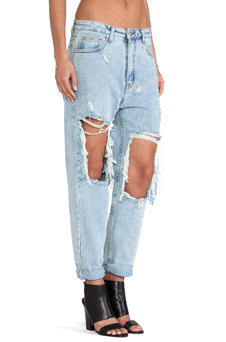 UNIF Twerk Jeans in Denim | REVOLVE