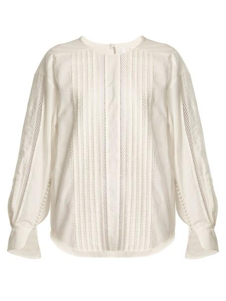 top lace cotton white
