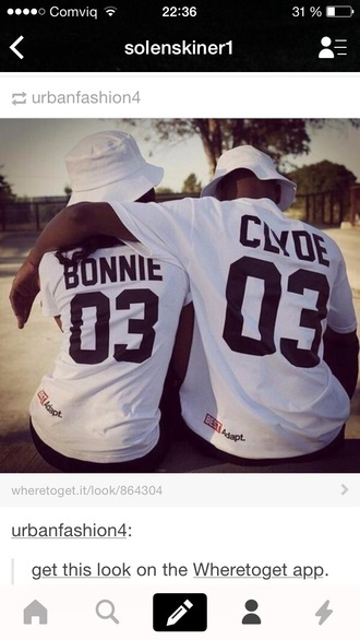 shirt t-shirt bonnie and clyde urban outfitters