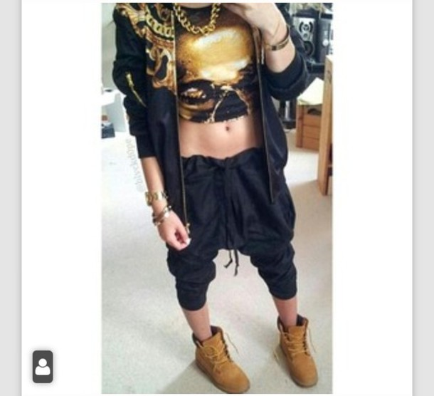 top crop tops versace dope swag style fashion jacket