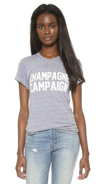 grey champagne top