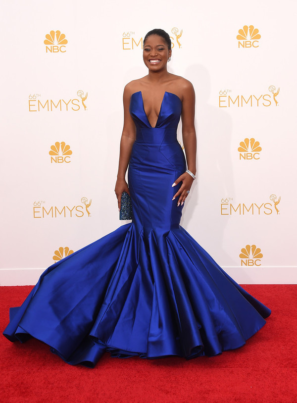 dress keke palmer blue emmys 2014