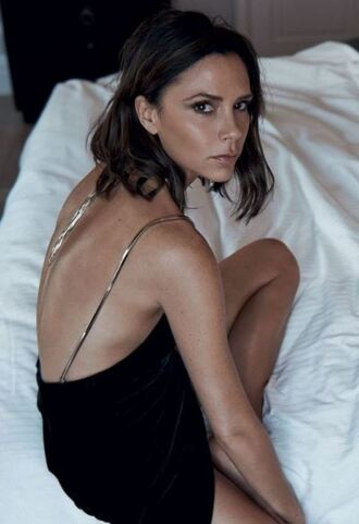 dress black dress victoria beckham