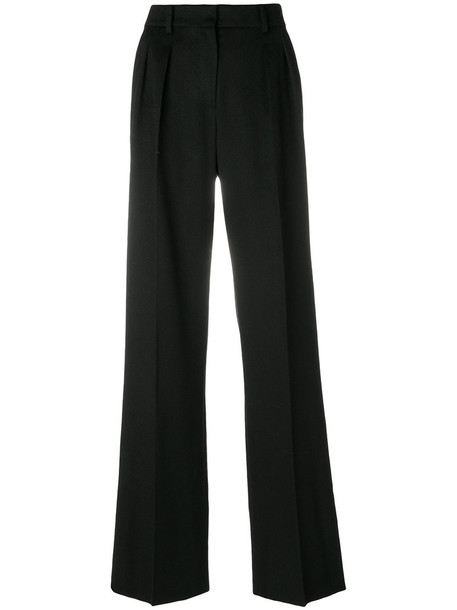 Max Mara hair women black camel pants