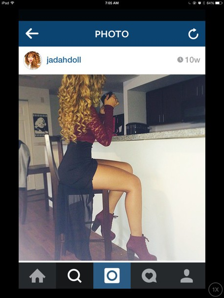 skirt jadah doll shoes