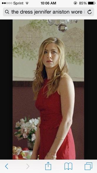 dress red dress high neck jenifer anistan
