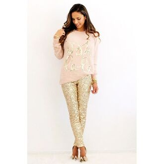 leggings gold sequins gold sequins gold sequin leggings sequin pants pants