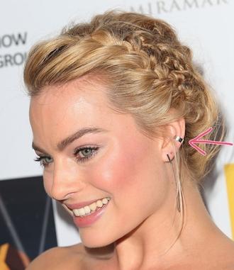 jewels earrings jewelry silver margot robbie ear cuff silver jewelry hairstyles braid