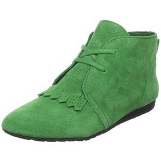 derbies flat leather green shoes yellow shoes