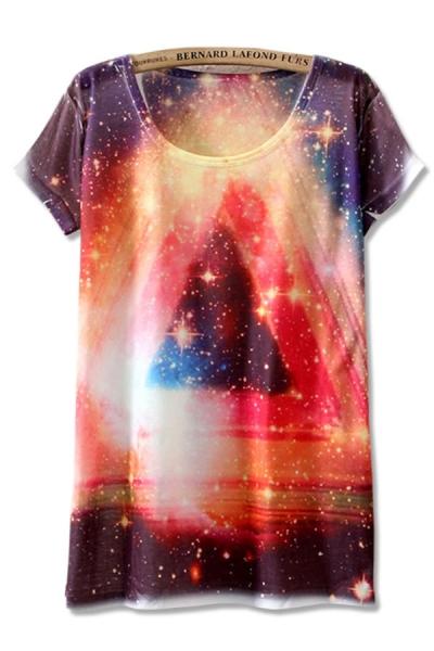 Shiny Galaxy Tee - OASAP.com