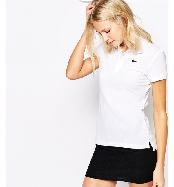 Nike Womens Ladies Pique Polo Shirt Short Sleeves T Shirt Tee Top ... a1ed7311aa