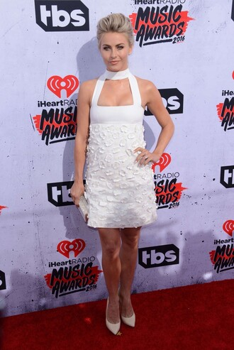 dress white dress clutch julianne hough mini dress pumps shoes