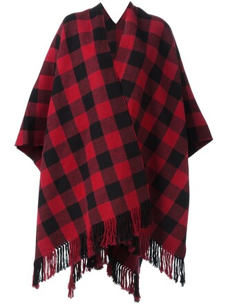 poncho black top