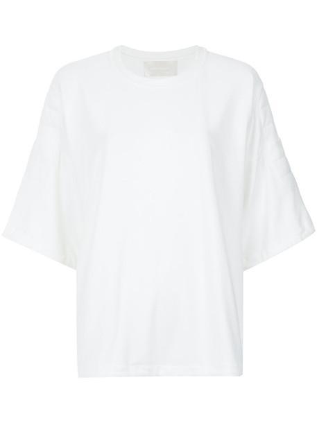 Lilly Sarti t-shirt shirt t-shirt women spandex fit white top