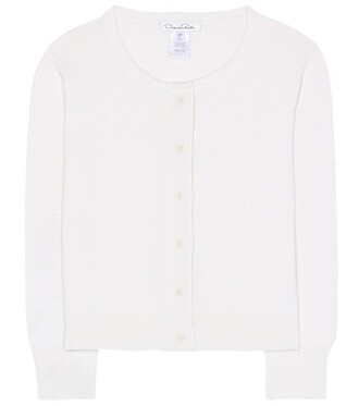 cardigan silk white sweater