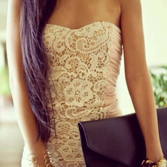 dress beige dress nude dress lace dress prom dress cute dress wedding instagram