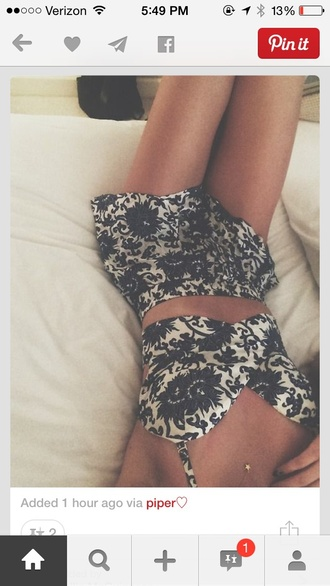 jumpsuit floral two-piece spring summer