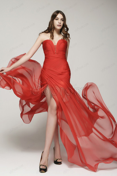Dress Red Prom Dress Long Prom Dress Prom Dress With Slit
