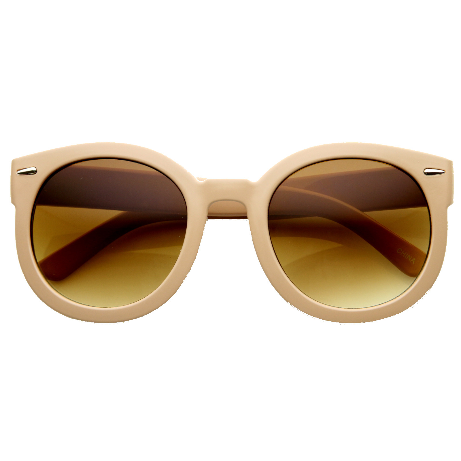 Womens Designer Round Oversize Retro Fashion Sunglasses 8623
