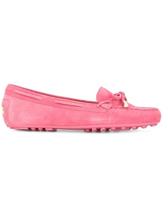 women daisy loafers leather suede purple pink shoes