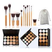 make-up,make up palette,make up brushes,concealer palette,contour palette,contour,concealer,bamboo make up brushes,contouring