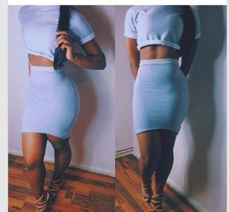 dress top skirt two-piece combo