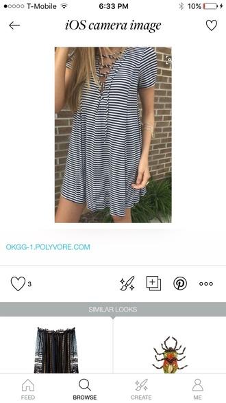 dress striped dress t-shirt dress black and white striped
