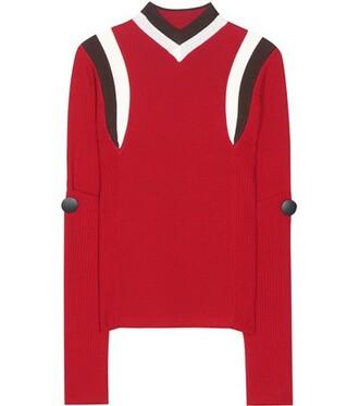 sweater wool sweater wool red