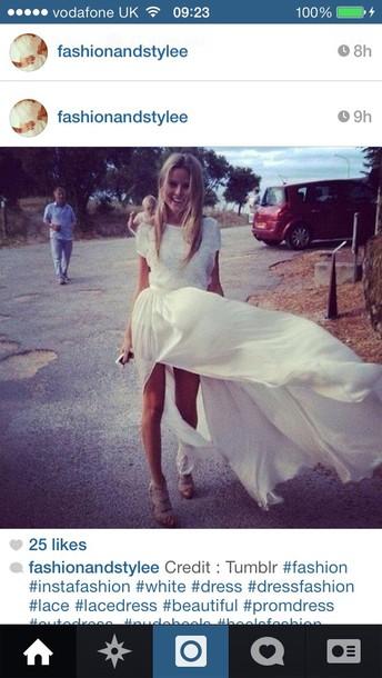 dress white dress lace dress white