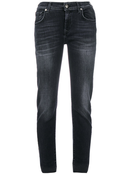 7 For All Mankind jeans cropped jeans cropped women spandex cotton blue