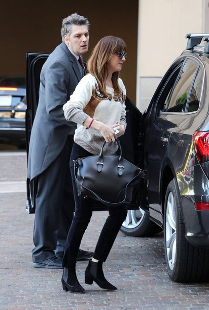 black dakota johnson fifty shades of grey bag