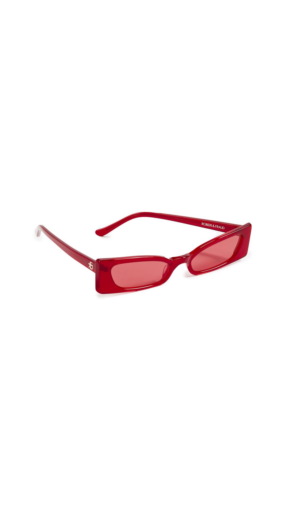 Roberi & Fraud Geraldine Sunglasses in red