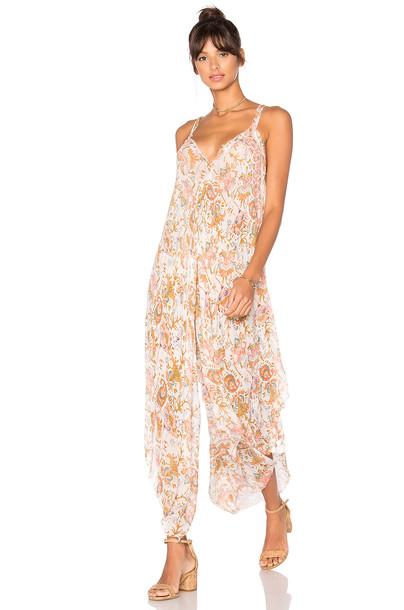 4cf6706515bb Free People Paisley Oleander Cyprus Romper in pink - Wheretoget